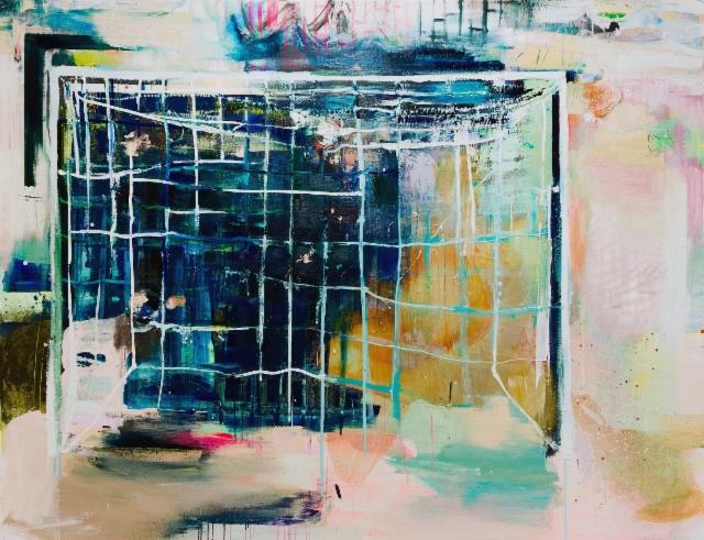 Meidän pääty (2018), 200 x 260 cm, akryyli ja öljy kankaalle.