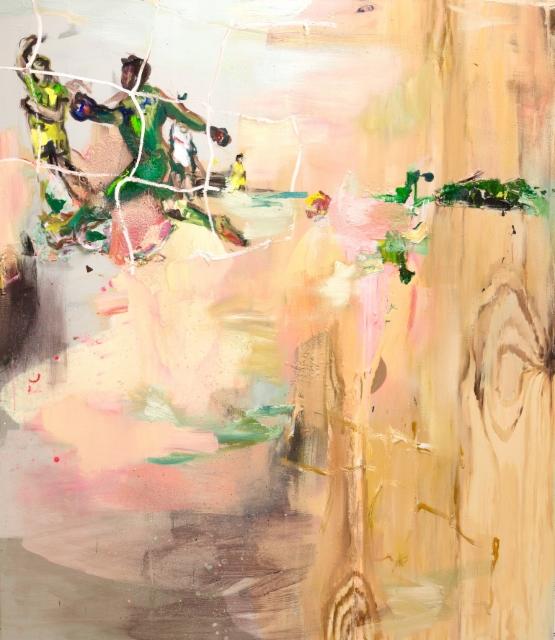 Tuuletus (2017), 160 x 140 cm, akryyli ja öljy kankaalle.
