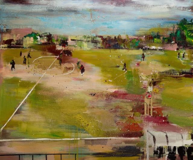 Haapaniemi (2017) 150 x 180 cm, akryyli ja öljy kankaalle. Myyty.