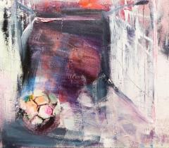 Roosa maali (2018) 70 x 80 cm, akryyli ja öljy kankaalle. Myyty.