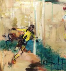 Dortmund (2017)  150 x 140 cm, akryyli ja öljy kankaalle.