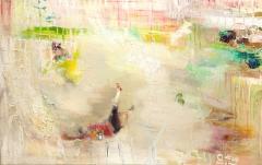 Dyykkaus (2017), 120 x 190 cm, akryyli ja öljy kankaalle. Myyty.