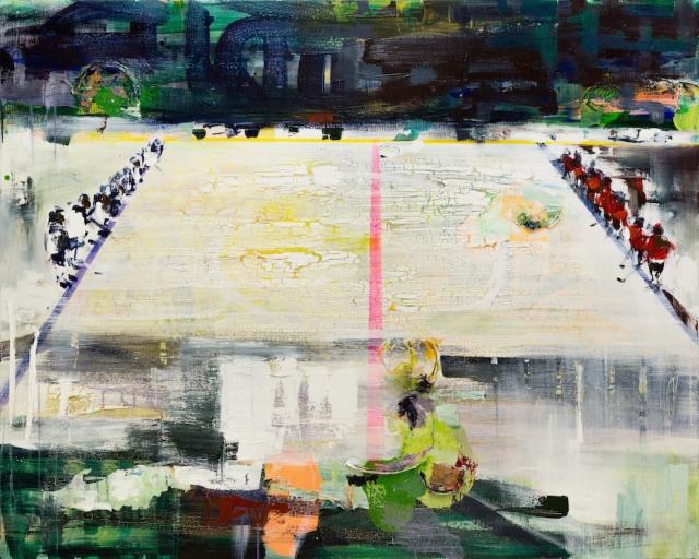 Hymni (2018) 120 x 150cm, akryyli ja öljy kankaalle.
