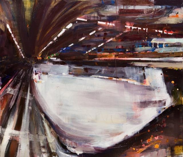 Halli (2018) 130 x 150cm, akryyli ja öljy kankaalle.