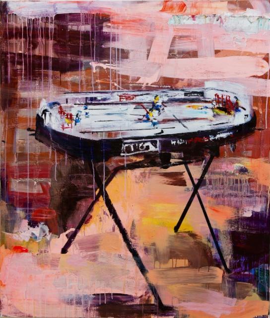 Stiga (2018) 135 x 115cm, akryyli ja öljy kankaalle. Myyty.