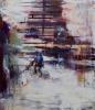 Pleksin takaa (2018) 116 x 100cm, akryyli ja öljy kankaalle.