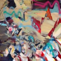 Sunderlan (2020), 140 x 130 cm, akryyli ja öljy kankaalle.