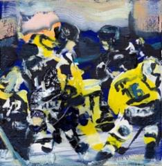 Jukurit (2020), 2020, 20 x 20 cm,  akryyli ja öljy kankaalle.