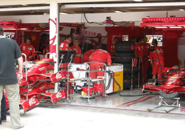 Ferrarin varikkopilttuuta