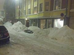 Ammmattilehden toimisto lumen keskellä Vironkadulla