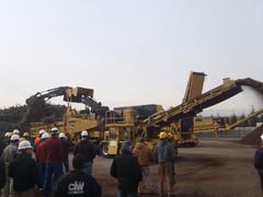 Vermeer järjesti demopäivät messujen jälkeen Harrisburgissa - kuvassa järeä HG8000 murskaa energiapuuta uskomattomalla kapasiteetilla