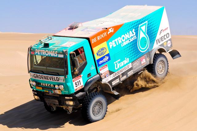 Autiomaan hiekkadyyneillä otetaan autosta ja miehestä mittaa