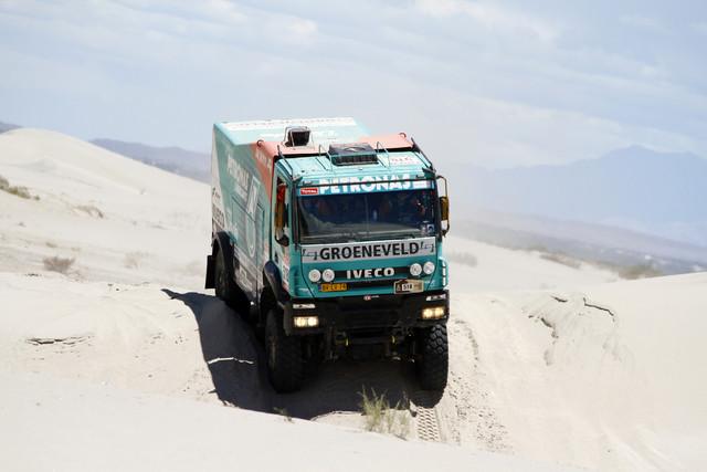 Iveco Trakker Evolution 2 -kuorma-autoilla ajettiin toiseksi ja kuudenneksi Dakar 2012 kilpailussa