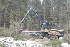 Eco Log 560D -harvesteri varustettuna Log Max 5000D -kouralla teki puuta tehokkaast