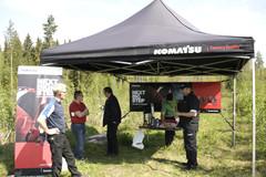 Komatsu 855 esiteltiin lehdistölle Mäntsälässä 22.5.2012