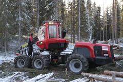 Komatsu Forest - uuden harvesterimalliston lanseeraus Uumajassa 22.10.2014 - Komatsu 901, Komatsu 911, Komatsu 931, Komatsu 951