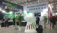 Norrhydro Oy esitteli suomalaista hydrauliikkasylinteri osaamista - Bauma China 2014 - Shanghai, 25.-28.11.2014