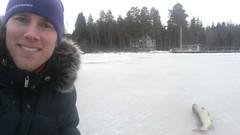Janne Watiovaara nappasi kunnon pilkkihauen tammikuussa 2015 Vaasassa