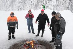Rovaniemi 24.1.2015 - CUTTING AGE TOUR - uusien Komatsu -harvestereiden esittelykierros
