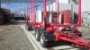 Lujan ja tukevam MST puutavaraperävaunun paino viisiakselisena ja Terminator XXL 11 CE pankoilla on 7.960 kg.