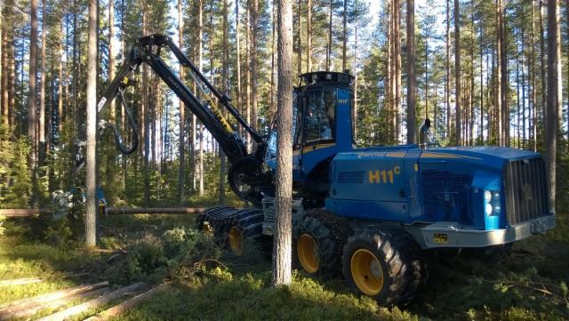 Rottne H11c harvesteri on koejattavana nyt Suomessa - maahantuoja Suomen Työkone Oy