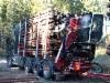 Puukuljetus Helenius Ky:n komea Volvo FH16 750 uudella Palfinger Epsilon M12Z -nosturilla - varusteet Wecmanin laatua ja perässä MST Karlavagnen