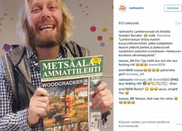 Radio Aallon Dynastia aamushown juontaja Kimmo Vehviläinen on Metsäalan Ammattilehti fani - onhan se ainut todellinen miestenlehti