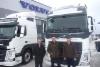 Volvo Finlandin myyntijohtaja Kimmo Ahonen, toimitusjohtaja Magnus Björklund ja jälkimarkkinajohtaja Tommy Lindholm oik. kertoivat Volvon positiivisista kuulumisista Turun Volvo Truck Centerissä 11.1.2016