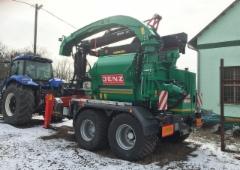 Suomalaisia Mesera metsänostureita toimitetaan yhä laajemmin maailmalle - kuvassa Jenz-hakkuri varustettuna Mesera 71 -nosturilla - loppuasiakas Unkarissa