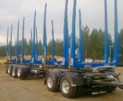 MST - puutavaraperävaunu.