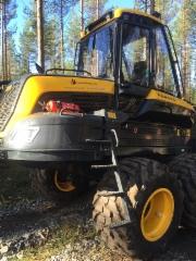 Ponsse Ergo nyt ActiveFrame vaimennusjärjestelmällä - kuvan kone Metsä-Multia Oy:n - FinnMetko 2016