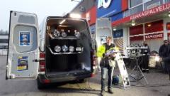 Hella Valovoimakiertue 2016 Jyväskylä 11.10. Raskone - arvonnassa Antti-Jussi Karnio voitti 2 kpl Hella Comet LED lisäkaukovaloja