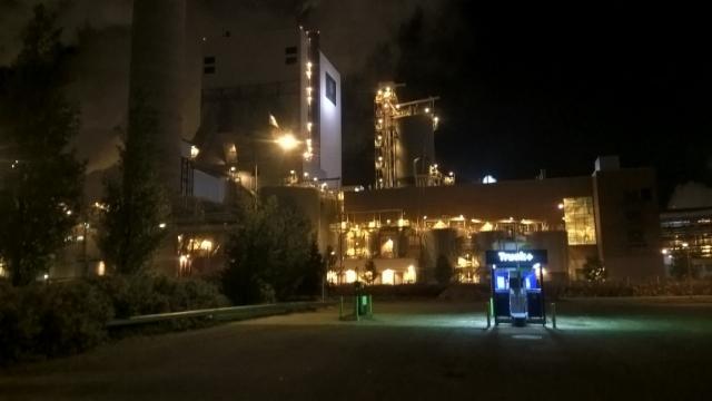 Terminator Syyskiertue 2016, UPM Pietarsaari,tehtaan valot.