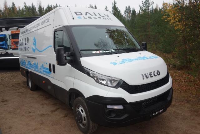 Iveco Daily E6 lehdistön koeajopäivä 14.10.2016 Porvoossa - Iveco Daily Electric täyssähköauto