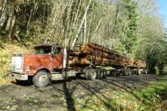 International 9300SB Logging Truck vm. 1990