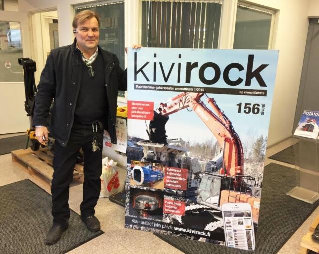 Olympiavoittaja Jouko Salomäki, Rotator, ja maailman suurin Kivirock-lehti