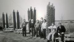 Lapin miehet Mansikkasaaressa joskus vuonna 1993.