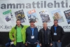 Metkossa Ammattilehden Mediarekan edessä Janne Jokela, Juhavi Havia Iveco, 6-kertainen nosturimestari Kai Sirén ja Raimo Haavikko Iveco