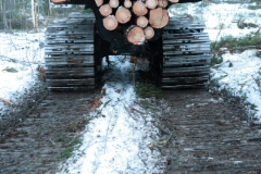 Veljekset Lehtomäki Oy:n Ponsse Wisent varustettuna kantavilla KOPA -teloilla