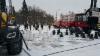 Vologdan messuilla Venäjällä ratkaistiin metsäkoneiden paremmuus sivistyneesti ja herrasmiestyylillä shakkia pelaamalla...