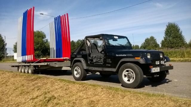 Kuormatilaa 2017 kierroksen kesäkalusto saa vahvistuksen tästä Jeepistä.