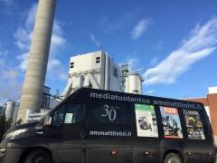 Ammattilehden Mediamobiili Pietarsaaressa UPM tehtaalla