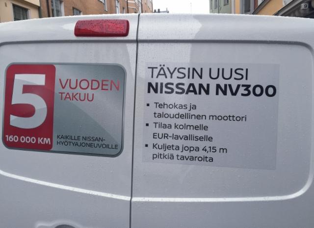 Nissan NV 300 pakettiauto - Ammattilehti koeajaa