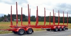 12.6 metrinen vaunu maksimoi siirtoauton kuormatilaa lähelle sallittua 21.42 metriä.