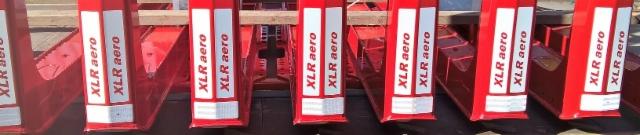 Terminator XXL aero 8 pankko RAL 3002 punaisena ja kaksikerrospinnoitettuna.
