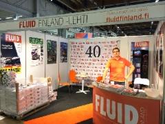 Ammattilehden Fluid Finland osasto Teknologia17 messuilla 10.-12.10.