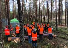 Veljekset Lehtomäen ja Metsä Groupin turvemaiden korjuunäytös Keuruulla 17.11.2017