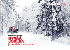 Komatsu Forestin Joulutervehdys