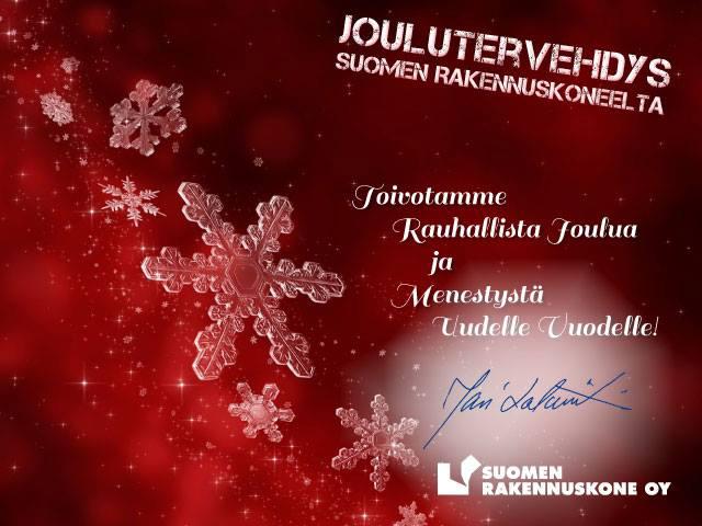 Suomen Rakennuskoneen Joulutervehdys