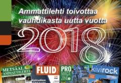 Ammattilehti kiittää kaikkia lukijoitaan ja yhteistyökumppaneita hienosta vuodesta 2017 - ja lisää vauhtia vuodelle 2018....